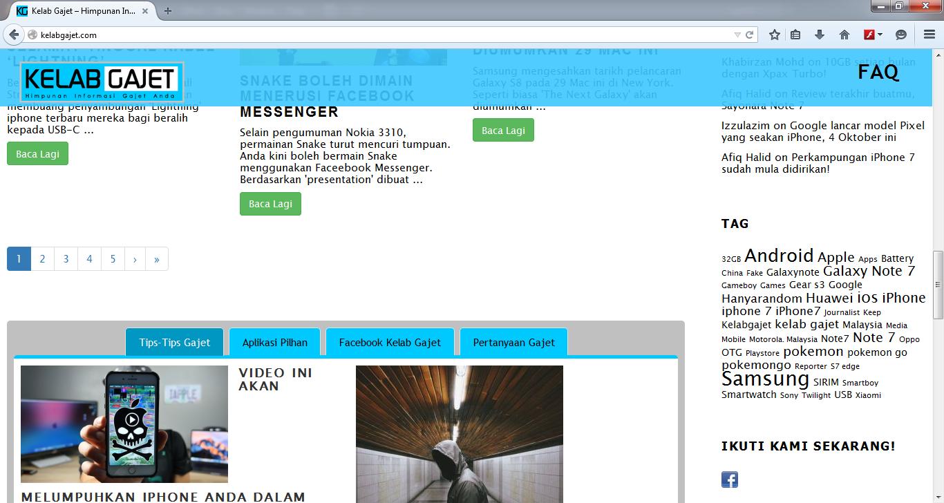 Contoh Design Website (Tab)