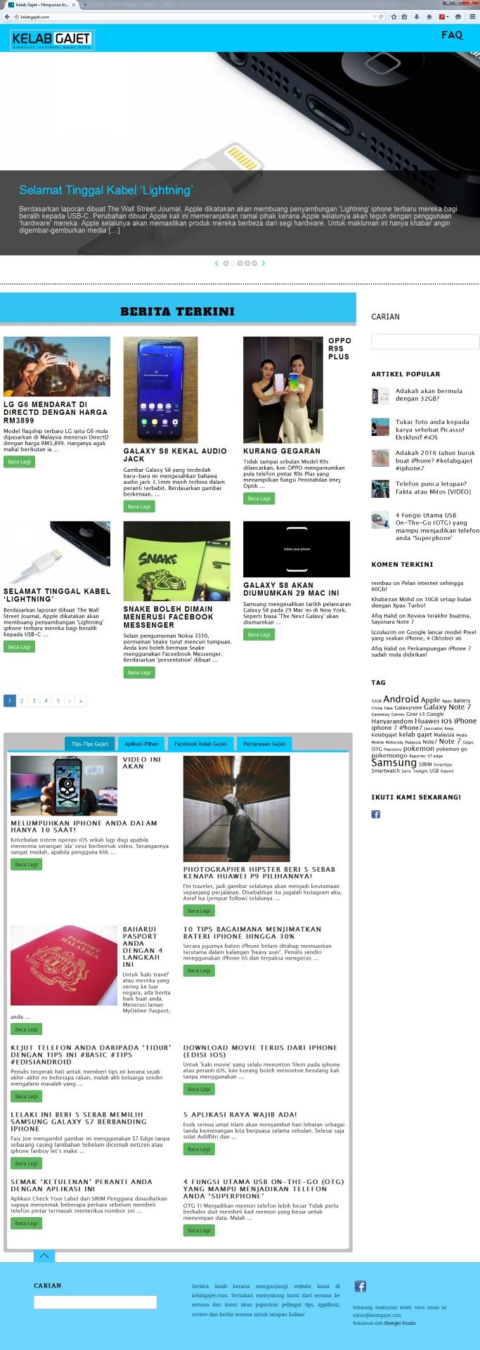 Contoh Design Website Portal Berita Kelabgajet Com Blog Slumb3rstory