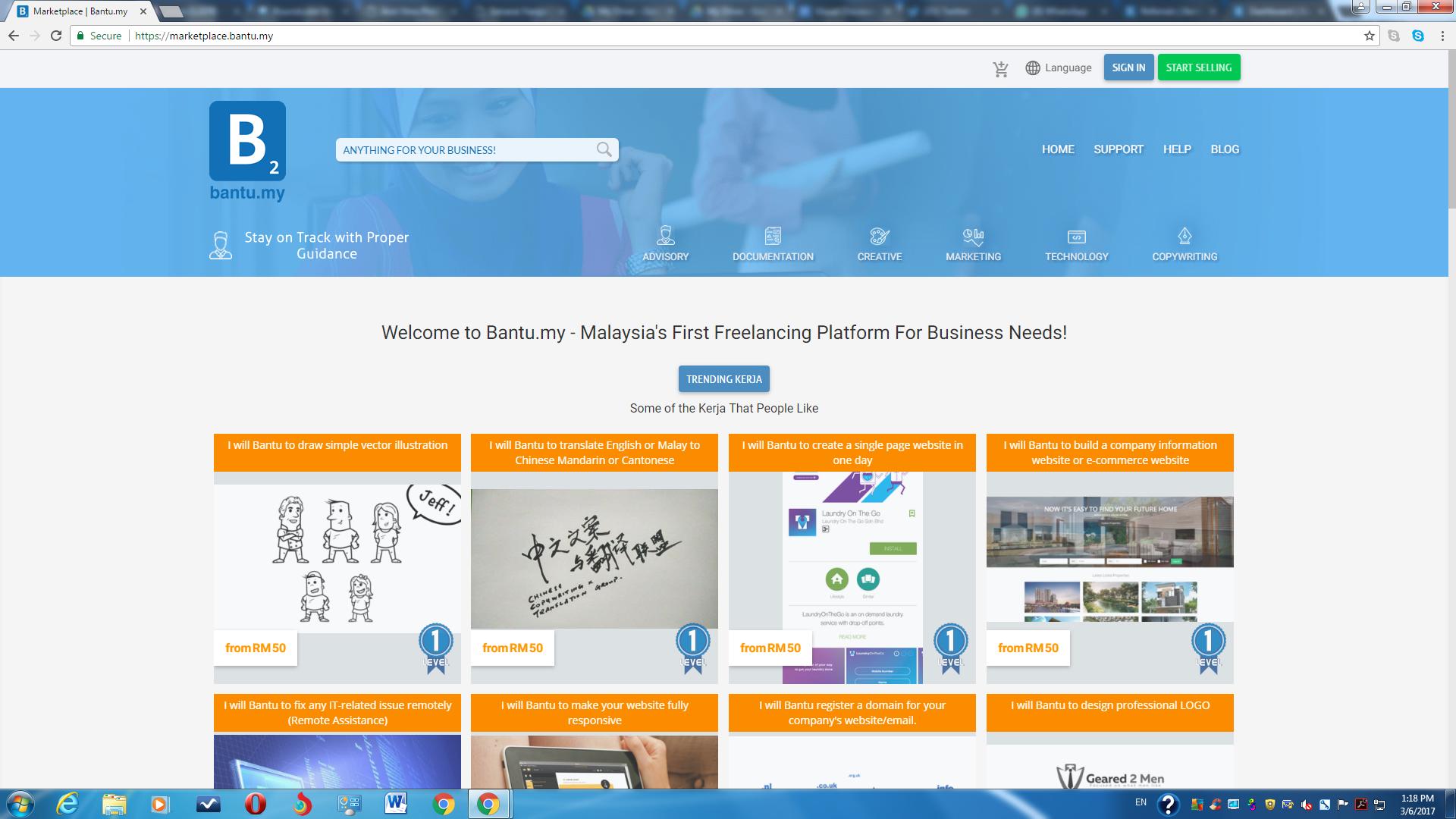 Platform alternative untuk freelance designer (bantu.my)